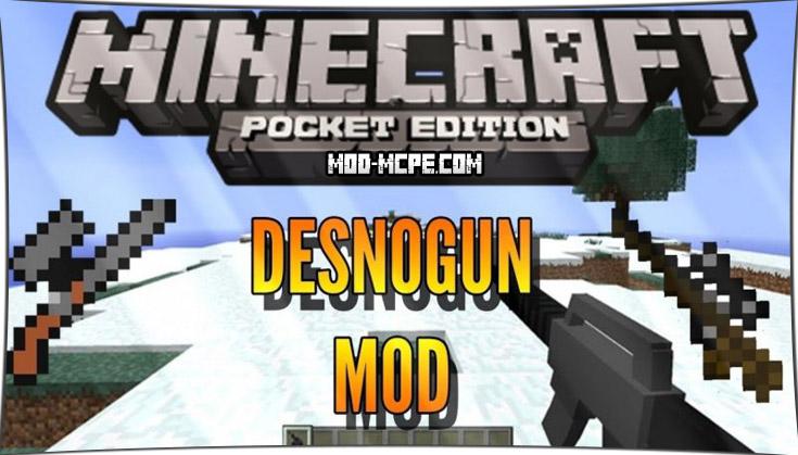 DesnoGuns - мод на огнестрельное оружие 1.4, 1.2.10, 1.2, 1.1.5