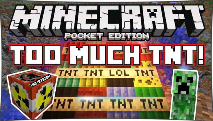 Too Much TNT - мод на взрывчатку 1.2.10, 1.2, 1.1.5