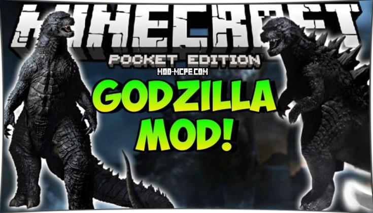 Godzilla - мод на Годзиллу 1.4, 1.2.10, 1.2, 1.1.5